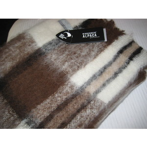Alpaca Throw - APACHE - Pure Alpaca and NZ-Made